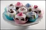 How to Make Onesie Cupcakes & Baby Sock Cupcakes