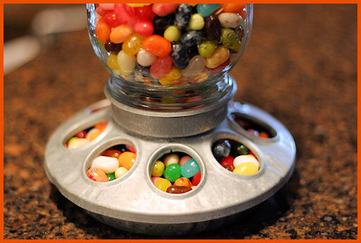 Birdfeeder turned into candy dispenser