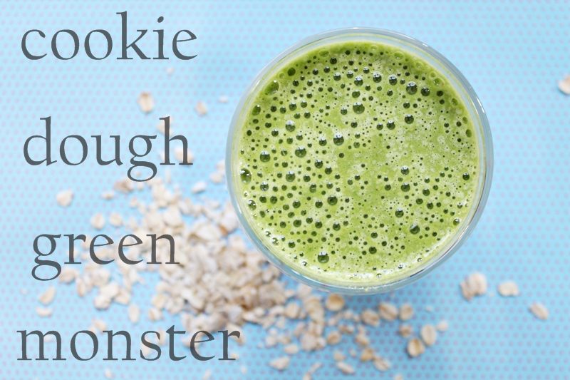 Green smoothie with oats