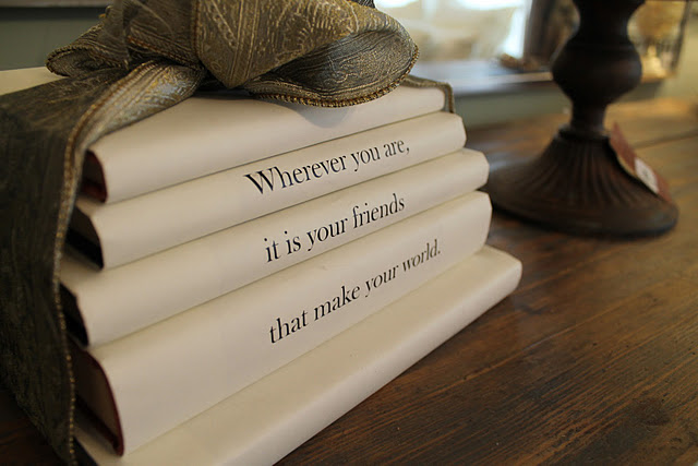 Books as home decor