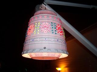make lights out of flower pots