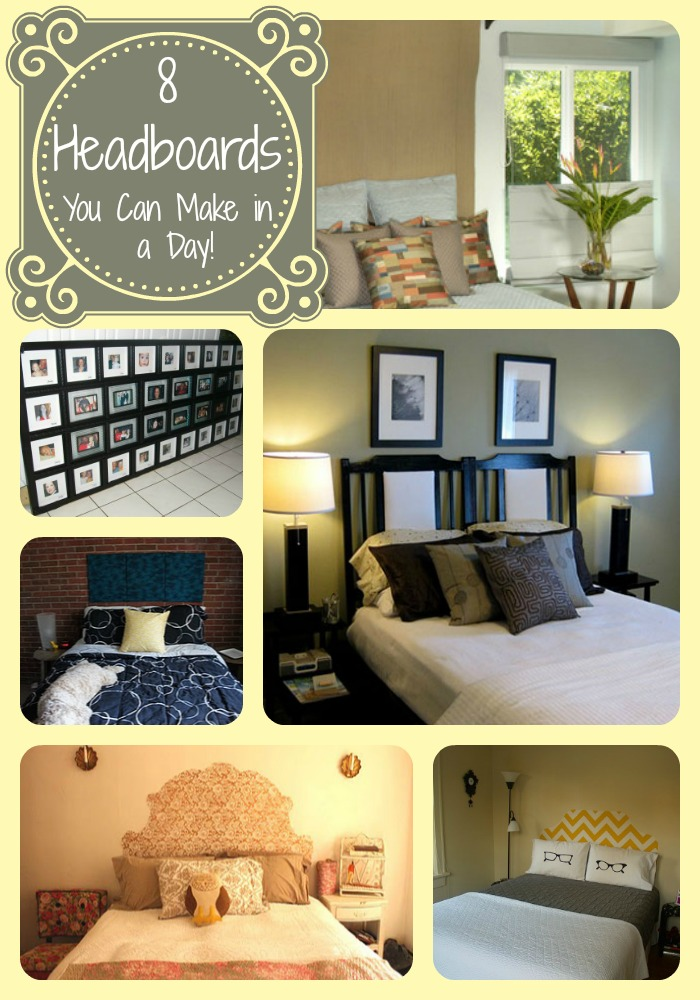 8 headboard ideas you can make in a day easy headboard ideas for Easy to make headboard ideas