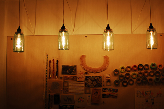 How to make pendant lights from Mason Jars