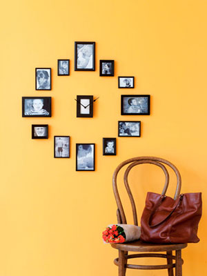 Make a clock from frames