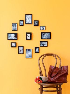 Make a clock from frames