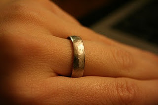 Do it yourself ring made from a quarter