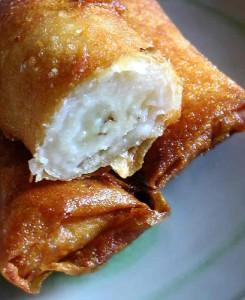 Turon - banana spring rolls