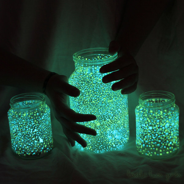 glow in the dark jars