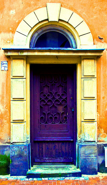 old purple door