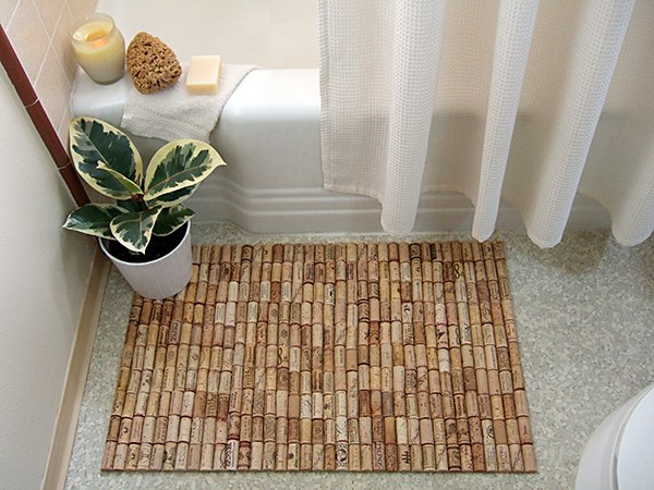 How to make a wine cork bathmat