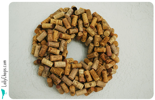 diy wine cork wreath