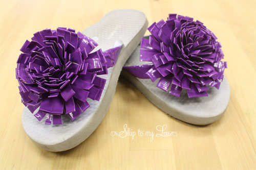 How to make duck tape flowers for flip flops