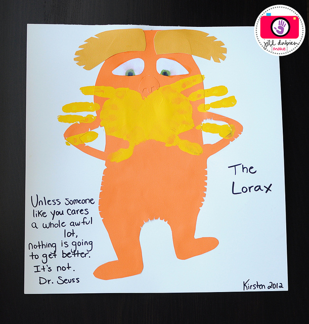 Make a Lorax craft with kids