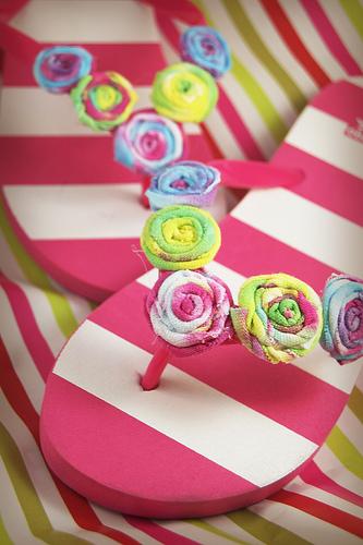 craft fabric flip flops