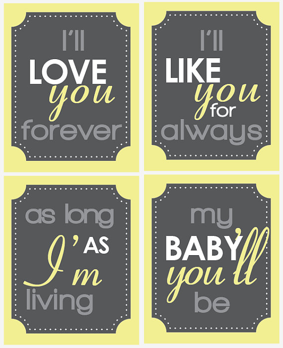 Love you forever nursery prints