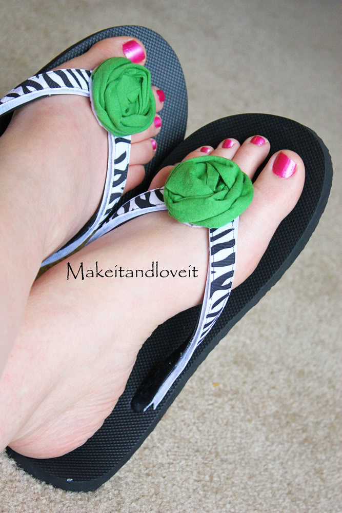 craft flip flops how-to