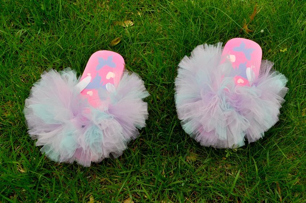 How to make tutu flip flops