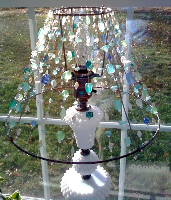 Divine diy lamp shade ideas diy lamp shade tutorial using beads mozeypictures Gallery