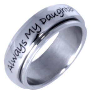 Always my daughter, now my friend - daughters ring