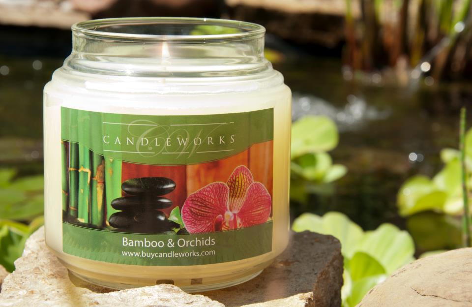 bamboo and orchid candle