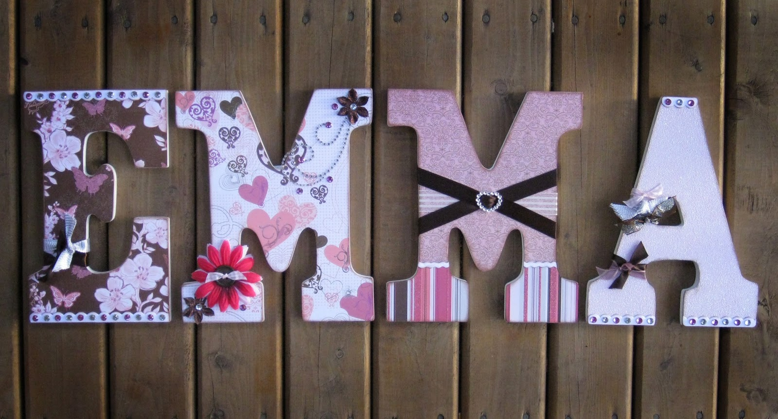 oodles of super cute crafts made from those hobby lobby letters featured on wwwmomcaster