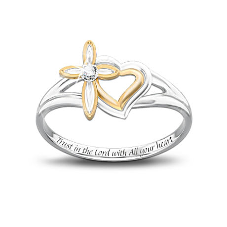 Daughter's ring with cross