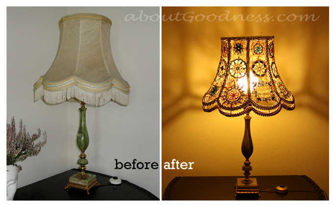 DIY lamp shade tutorial