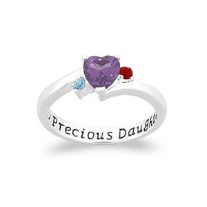 My Precious Daughter gemstone ring