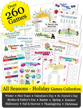 All Seasons Printable Games