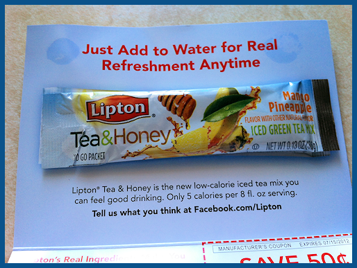 Lipton tea and honey