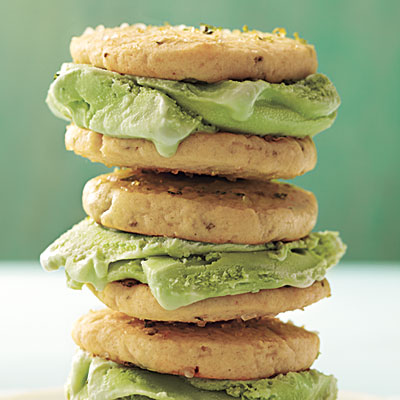 Homemade ice cream sandwiches - margarita flavored