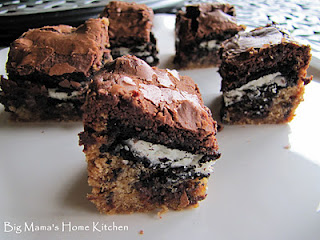 chocolate chip cookie double stuff oreo brownie bars