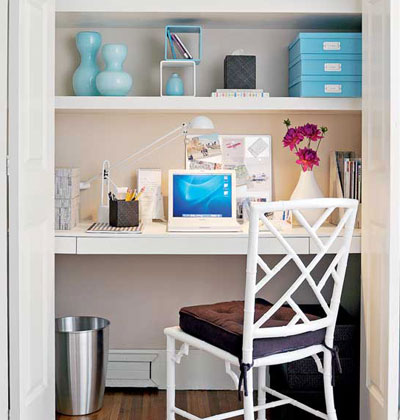 5 Lovely Ways To Turn A Closet Into An Office