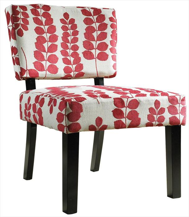 Red and cream chair
