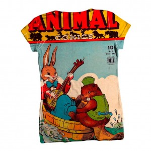 funny bunny beaver t-shirt