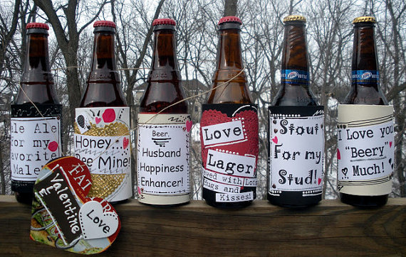 Valentine Beer Bottle Labels