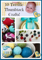 Thumbtack Crafts. Yep…thumbtacks.