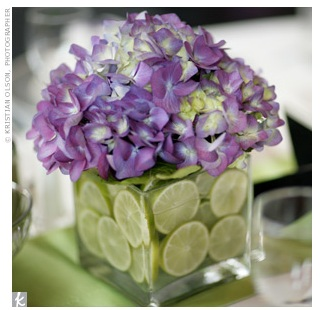 decorating ideas for easter - hydrangea and lime