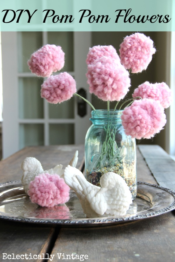 decorating ideas for easter - pompom flowers