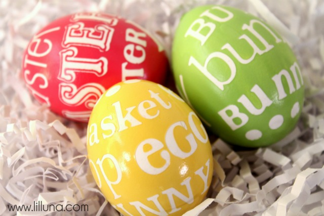 decorating ideas for easter - subway art easter eggs