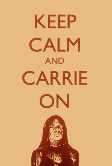 keep calm and carrie