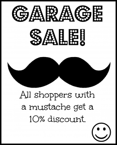 Garage Sale flyers