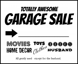free garage sale flyers printable garage sale flyers
