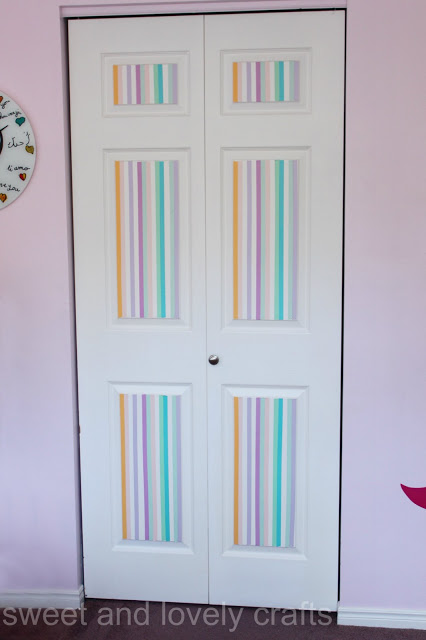 washi tape closet doors