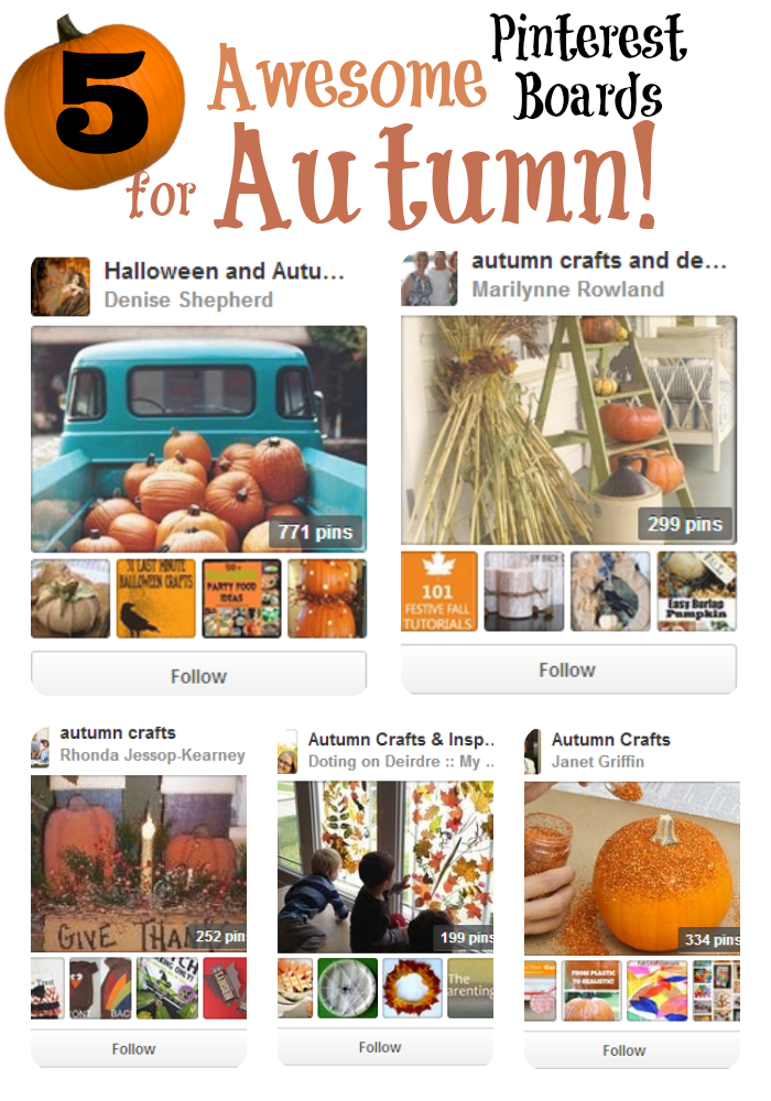 5 awesome Pinterest boards for Autumn