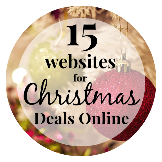 15 websites to get great Christmas deals!
