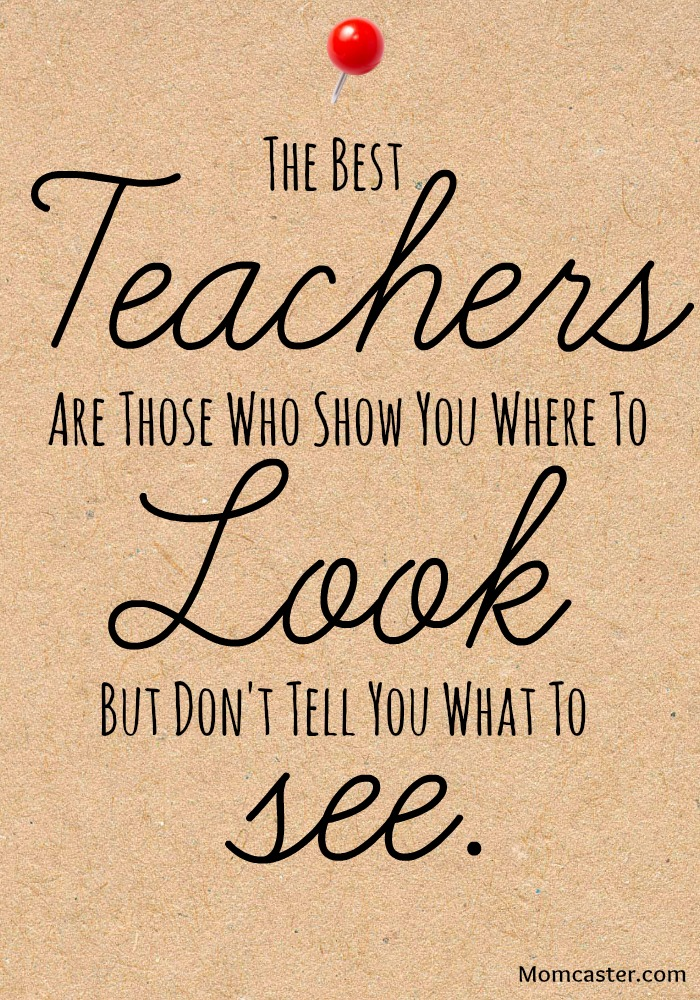 Teacher appreciation quote via Momcaster.com