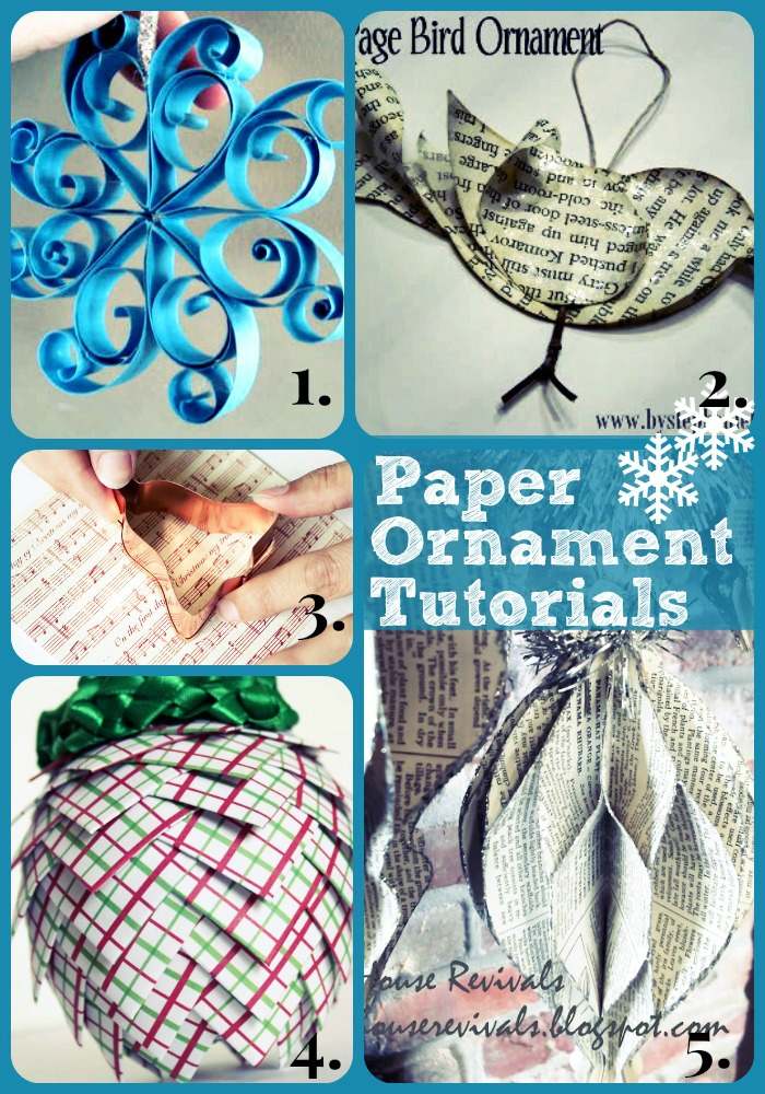 How to make super pretty paper Christmas ornaments!