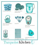 I Want a {Beachy} Turquoise Kitchen