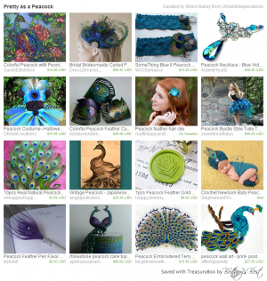 Pretty as a Peacock Etsy Treasures
